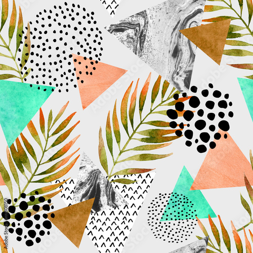 Abstract summer geometric seamless pattern - 112808150