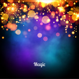 Fototapety Magic background design. Vector magic lights background