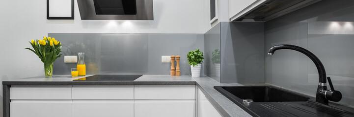 Panorama of kitchen countertops © Dariusz Jarzabek