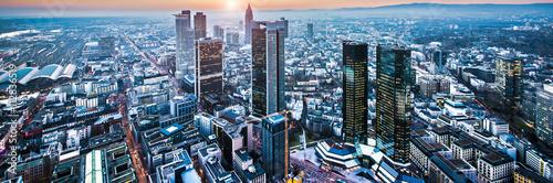 Frankfurt im Sonnenuntergang