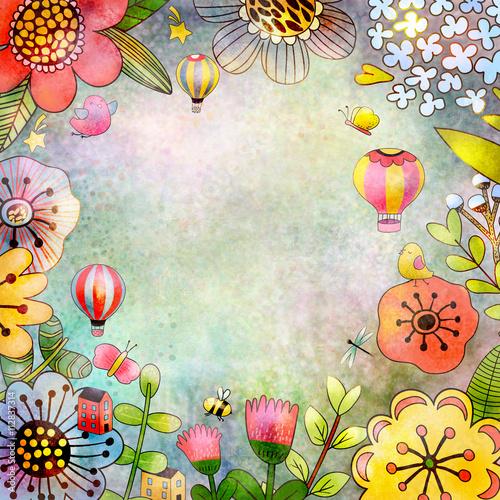 Naklejka Floral background