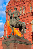 Marshal Zhukov monument near Red Square in Moscow, Russia