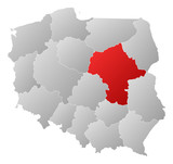 Map - Poland, Masovian
