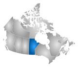 Map - Canada, Manitoba