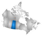 Map - Canada, Saskatchewan