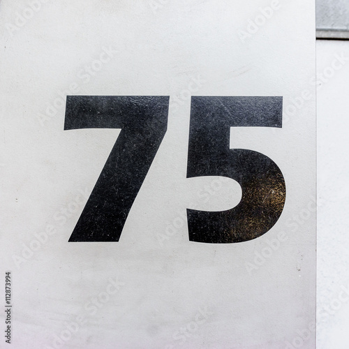 Number 75 Poster