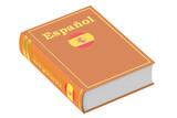 Fototapety Spanish language textbook, 3D rendering