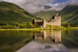 Fototapety Reflection of Kilchurn Castle in Loch Awe, Highlands, Scotland