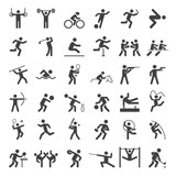 Fototapety olympic icons