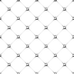 seamless pattern of padded upholstery buttoned rhomb in black and white