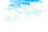Watercolor illustration of cloud. - 112901995