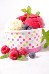 ice cream with berries