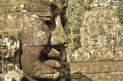 Bayon Temple, Angkor Cambodia Obraz na płótnie