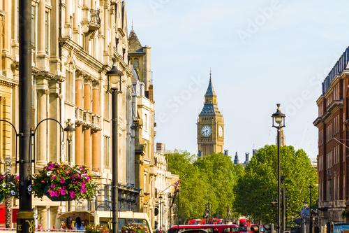 Fototapeta View of Big Ben from Trafalgar Square, London
