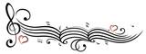 Notenblatt mit Notenschlüssel und Musiknoten