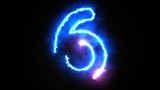 Abstract Electric Countdown 10-0 Motion Graphic Animation
