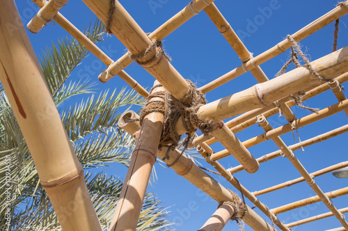 construction elements truss of bamboo