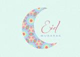 Fototapety Eid Mubarak - Greeting Card