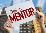 Get a Mentor placard with cityscape background