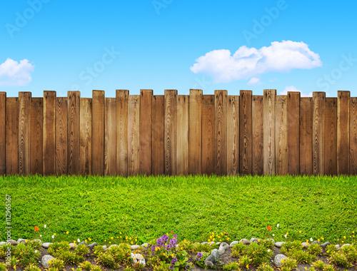 Foto Murales garden fence