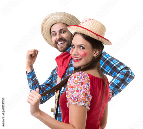 Zdjęcia na płótnie, fototapety, obrazy : Brazilian couple having fun in the Junina Party
