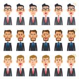 3人のビジネスマンの6種類の表情_2