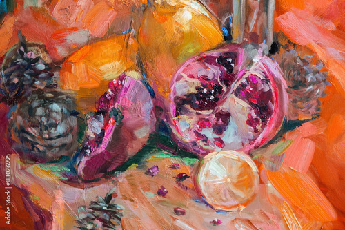 Oil Painting, Impressionism style, the texture of oil painting,