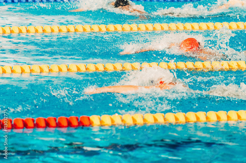 Poster Swimming competition, freestyle race
