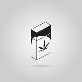 Drug marijuana leaf in packaging vector icon