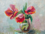 Oil Painting, Impressionism style, texture painting, flower stil - 113047930