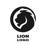 Silhouette of the lion, monochrome logo. - 113047952
