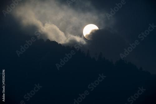 Poster Halloween Himmel Sonnenfinternis Schrecken - moody sky