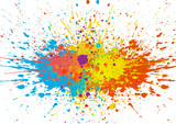 Fototapety abstract splatter color background. illustration vector design