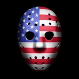 Vintage Goalie Mask with USA flag