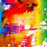 Grunge style abstract color splash background - 113081145