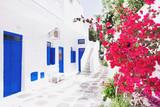 Fototapety Street in Mykonos town, Mykonos island, Cyclades, Greece