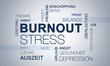 Leinwanddruck Bild - Burnout Stress Grafik