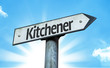 Kitchener direction sign in a concept image