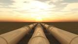 Pipelines bei Sonnenuntergang - 113099715