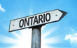 Ontario direction sign in a concept image