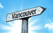Vancouver direction sign in a concept image