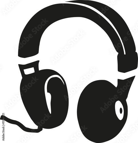 Headphones retro dj