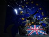 Brexit concept 3d rendering