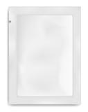 White empty plastic packaging. Blank foil or plastic sachet for