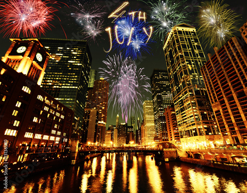 4th of July fireworks in Chicago