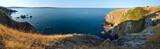Summer sea coastline panorama.
