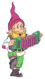 Gnome with accordion