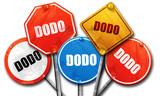 Dodo, 3D rendering, street signs