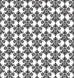 Seamless black and white small floral elements wallpaper