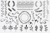 "Hand Drawn Floral Design Elements 89308749,DELETED 113315377,Grunge pylon textured image"""